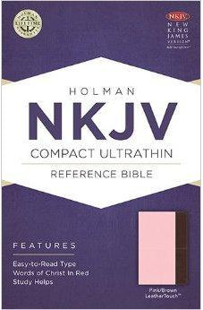NKJV Compact Ultrathin Bible, Pink/Brown LeatherTouch 9781586406288