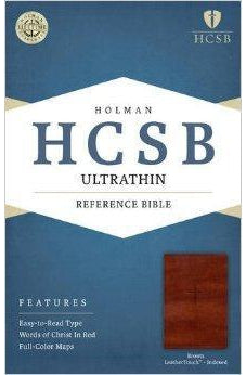HCSB Ultrathin Reference Bible, Brown LeatherTouch Indexed 9781586407230