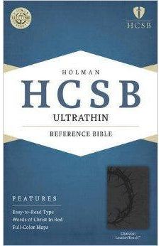 HCSB Ultrathin Reference Bible, Charcoal LeatherTouch 9781586407247