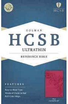 HCSB Ultrathin Reference Bible, Pink LeatherTouch 9781586407308