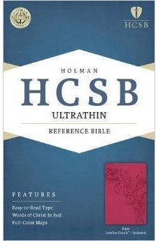 HCSB Ultrathin Reference Bible, Pink LeatherTouch Indexed 9781586407315