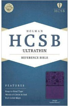 HCSB Ultrathin Reference Bible, Purple LeatherTouch 9781586407322