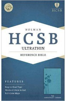 HCSB Ultrathin Reference Bible, Teal LeatherTouch Indexed 9781586407353