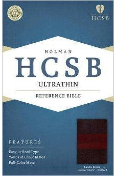 HCSB Ultrathin Reference Bible, Saddle Brown LeatherTouch Indexed 9781586407414
