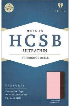 HCSB Ultrathin Reference Bible, Pink/Brown LeatherTouch 9781586407421