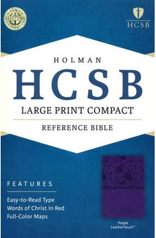 HCSB Large Print Compact Bible, Purple LeatherTouch 9781586407537