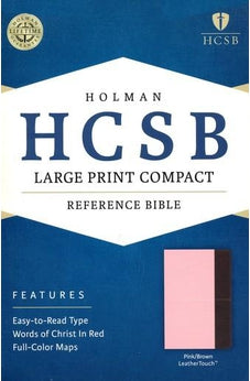 HCSB Large Print Compact Bible, Pink/Brown LeatherTouch 9781586407575