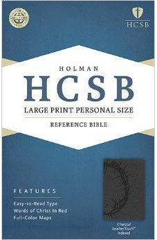 HCSB Large Print Personal Size Bible, Charcoal LeatherTouch Indexed 9781586407667