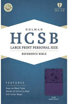 HCSB Large Print Personal Size Bible, Purple LeatherTouch 9781586407711