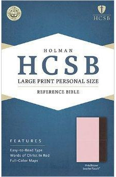 HCSB Large Print Personal Size Bible, Pink/Brown LeatherTouch 9781586407810