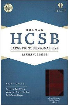 HCSB Large Print Personal Size Bible, Classic Mahogany LeatherTouch Indexed 9781586407902