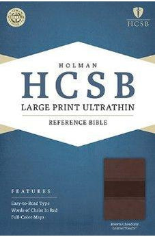 HCSB Large Print Ultrathin Reference Bible, Brown/Chocolate LeatherTouch 9781586407995