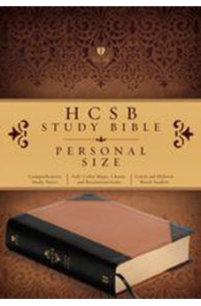 HCSB Study Bible Personald Size Black & Tan 9781586409630