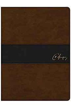 Image of KJV Spurgeon Study Bible, Brown/Black LeatherTouch 9781586409739