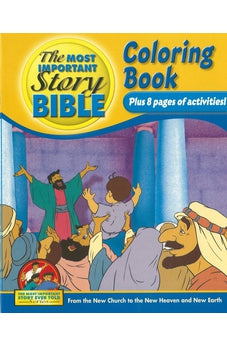 Image of The Most Important Story Bible Coloring Book 9781894685719