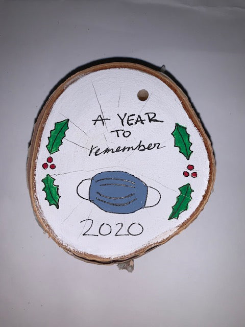 Adirondack Hand-painted Birch Ornaments by Laura & Sophia