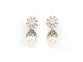 STERLING SILVER WHITE CRYSTAL PEARL EARRING