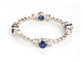 STERLING SILVER BLUE CRYSTAL BANGLE