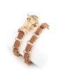 GOLD PLATED BIRD LEATHER BRACELET - FASHION JEWELLERY