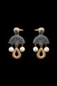 STERLING SILVER BLUE CRYSTAL BIRD EARRING - FASHION JEWELLERY