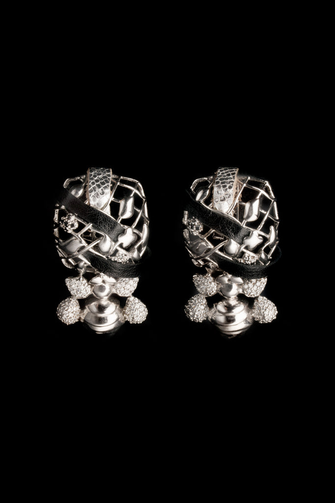 STERLING SILVER CAGE EARRING - FASHION JEWELLERY