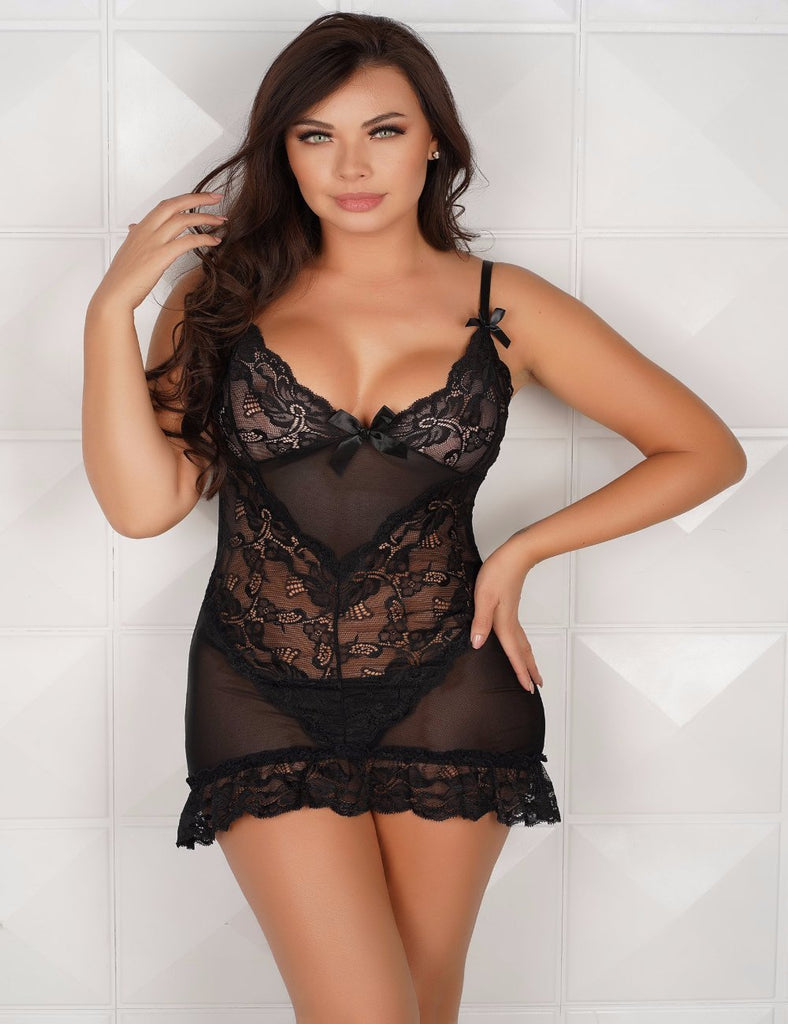 R70218 Lace Sexy fitted dress