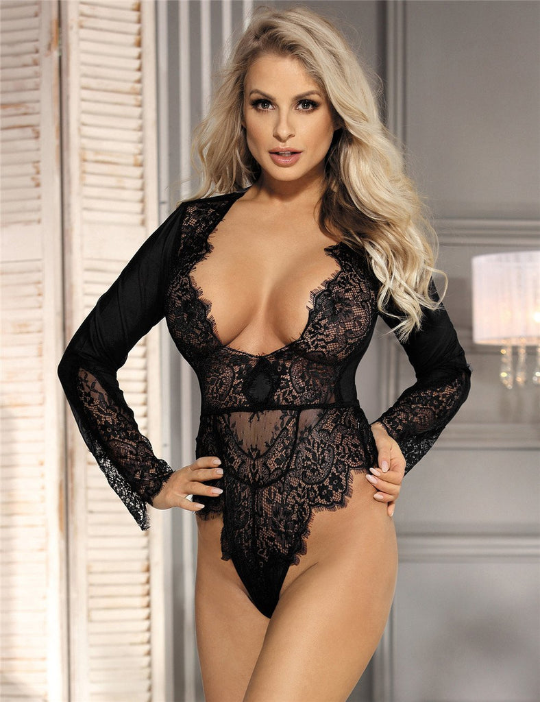 R80400 Ladies lace Body Suits