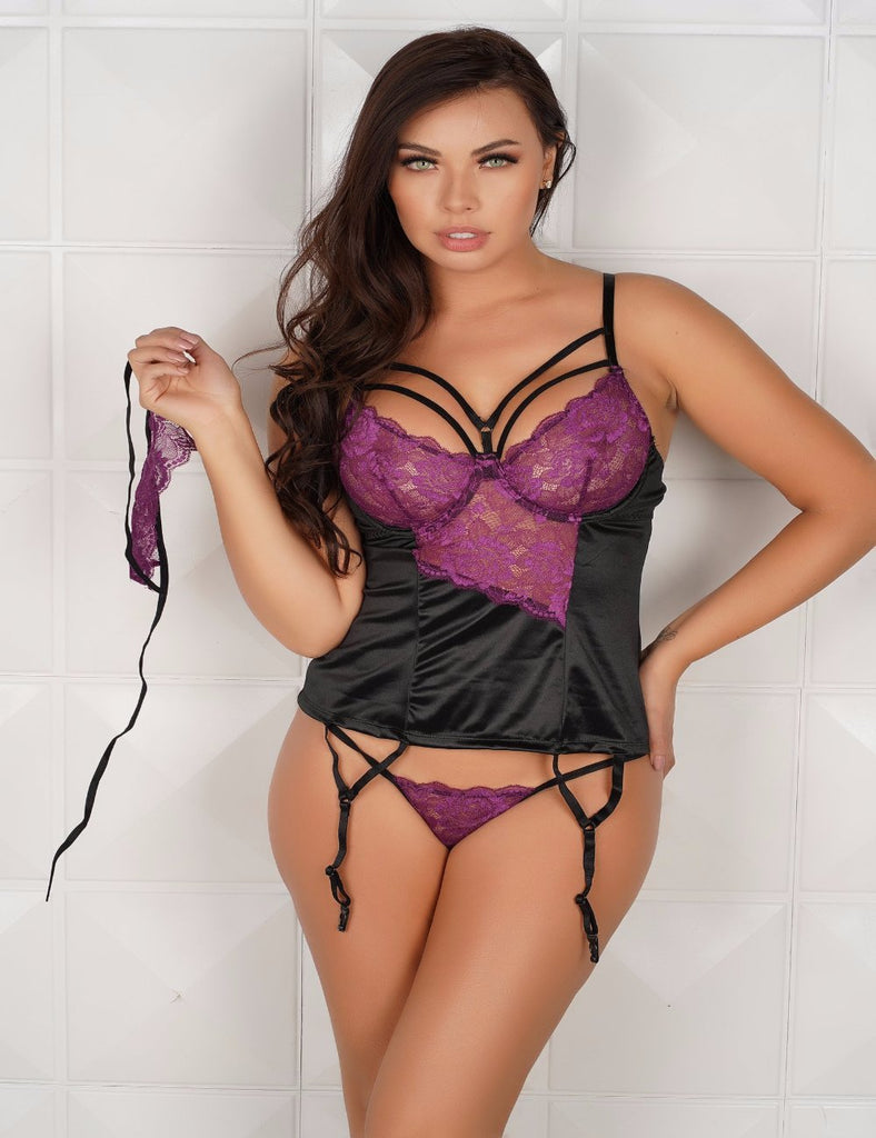 R80419 - Ladies lace sexy Corset with underwire