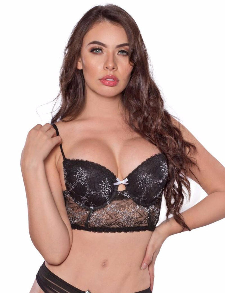 LL114 Black Lace Push Up T-shirt Bra