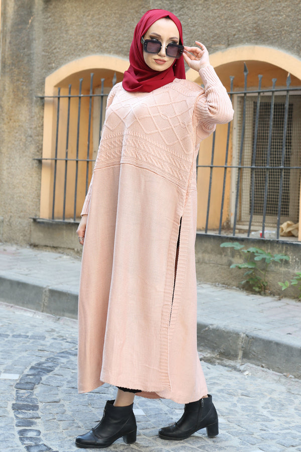 Women's Modest Tricot Poncho