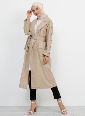 Women's pocket Mink Trenchcoat