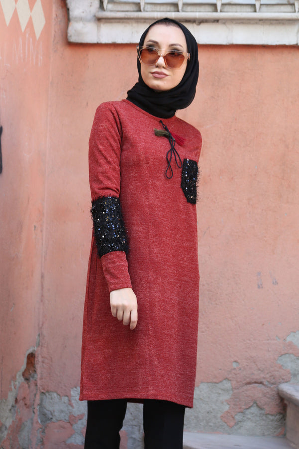 Women's Sequined Modest Tunic