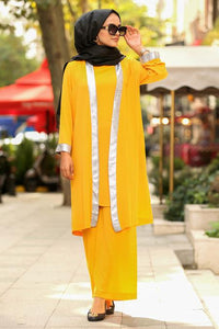 Yellow Modest Outfit Set