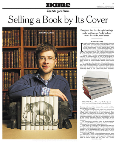 New York Times feature of Juniper Books in Home Section