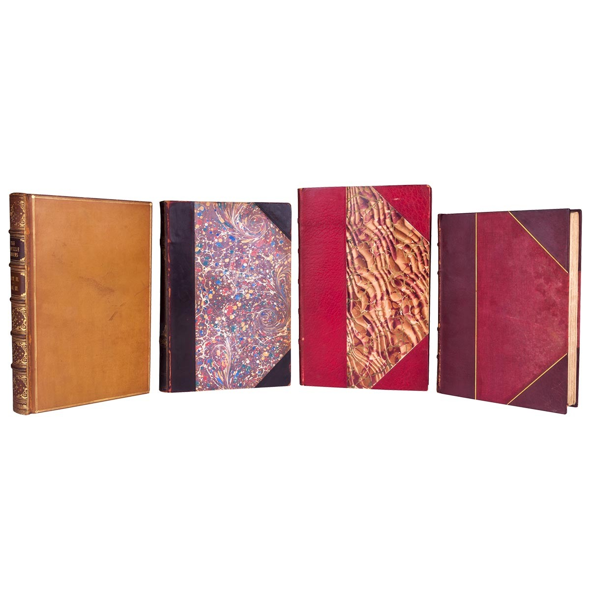 Antique Leather Books by the Foot