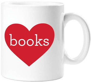 Books Heart Mug