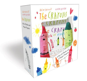 Publisher Boxed Set: The Crayons- A Set of Books and Finger Puppets