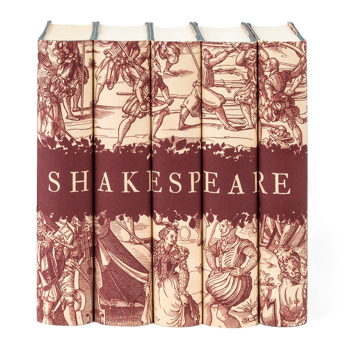 William Shakespeare Engraving Book Set with Custom Flap Text