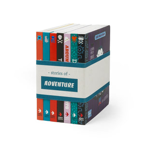 BabyLit Stories of Adventure; set of 7 board books with canvas book band.