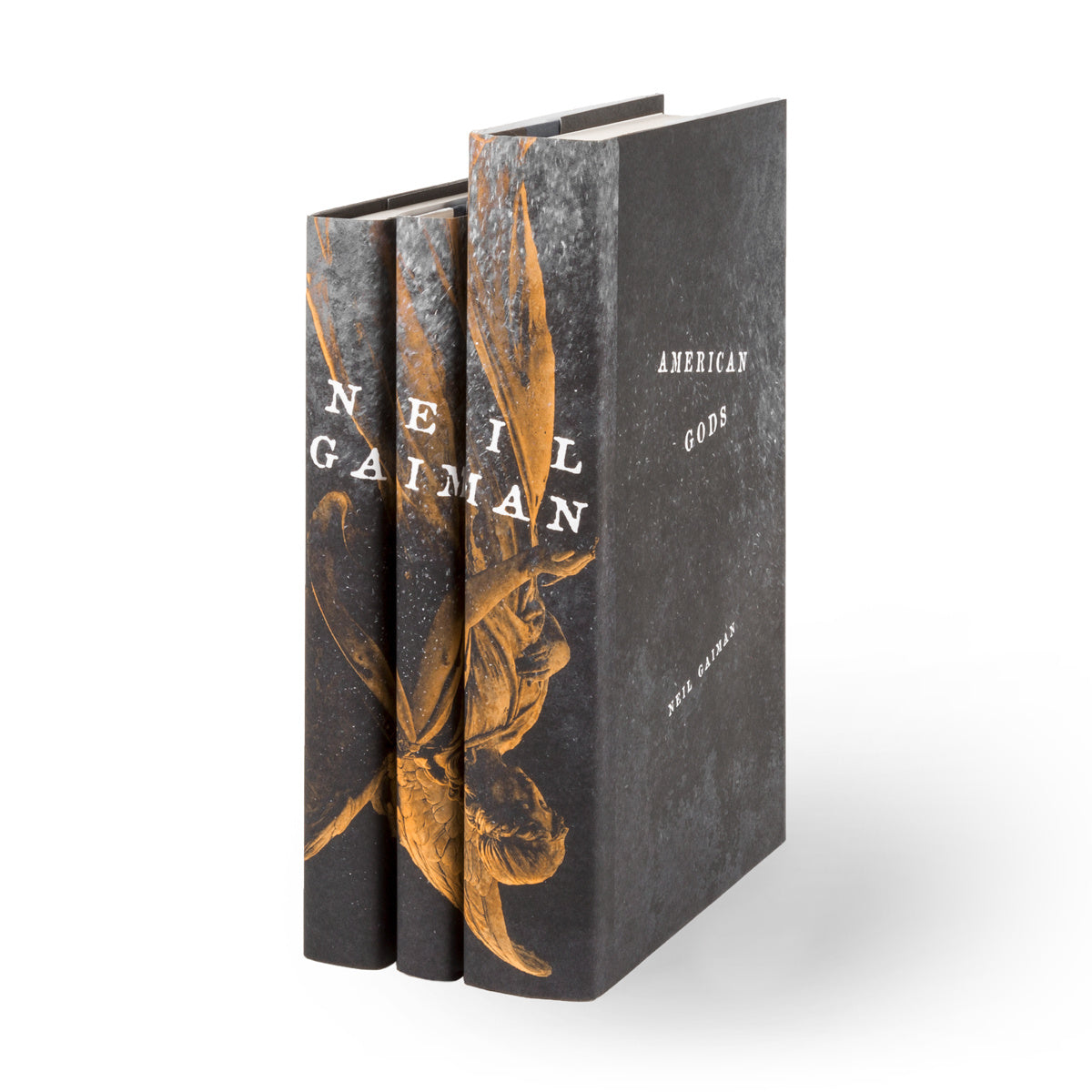 Angled View of Neil Gaiman book set featuring american gods