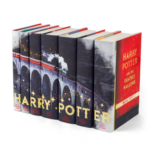 Hogwarts express book jackets spine view with view of cover