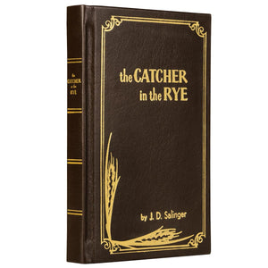 Leather-bound copy of Catcher in the rye