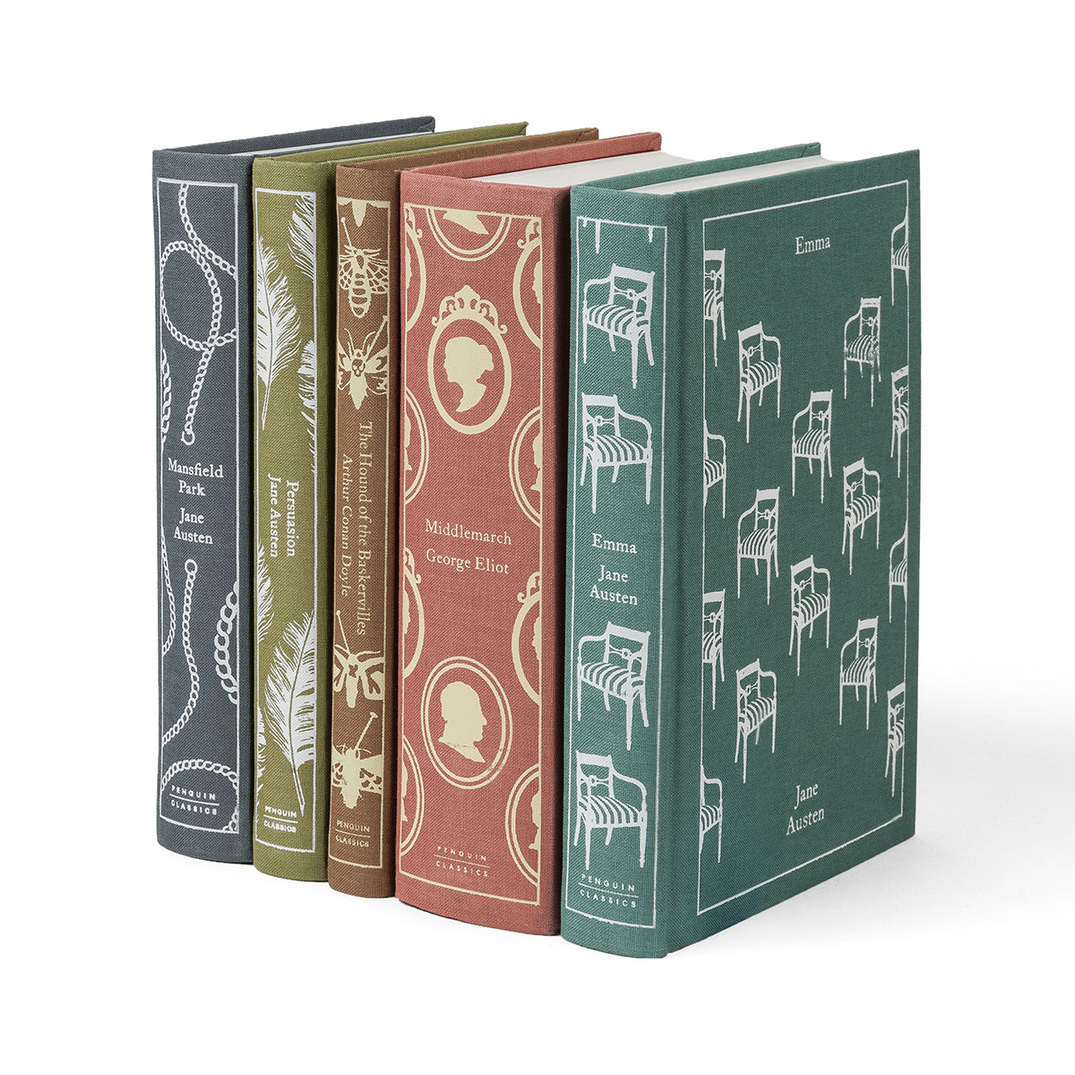 Penguin Classics Cameo Palette Book Set, set of five classic novels from Penguin Classics in soft neutral colors.