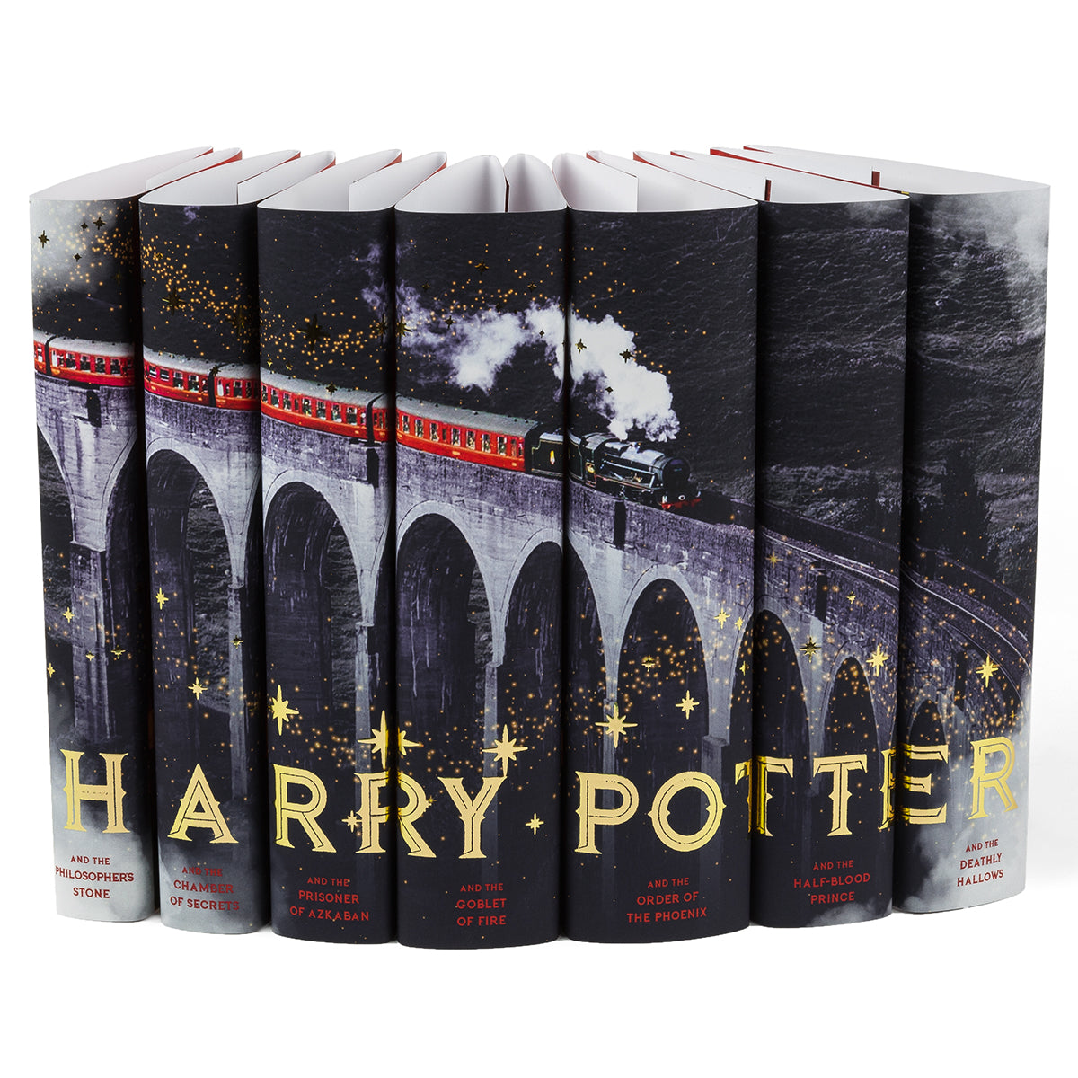 U.K. British Edition Harry Potter Hogwarts Express Book Set – Jackets Only