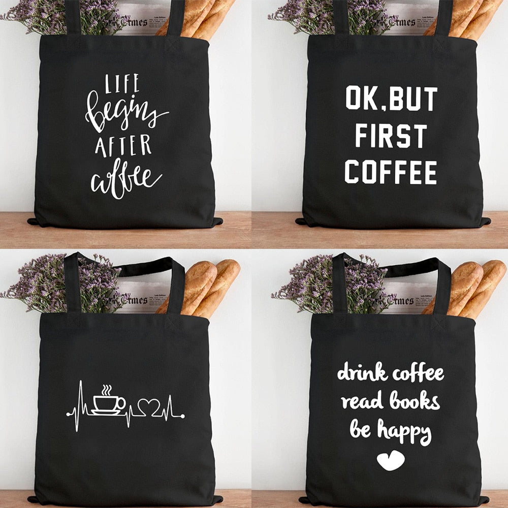 First Coffee Canvas Tote