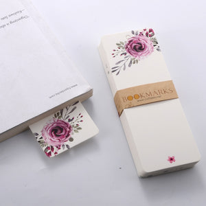 40 pcs Floral Bookmarks