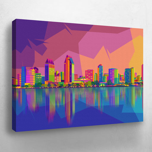 San Diego Skyline Pop Art