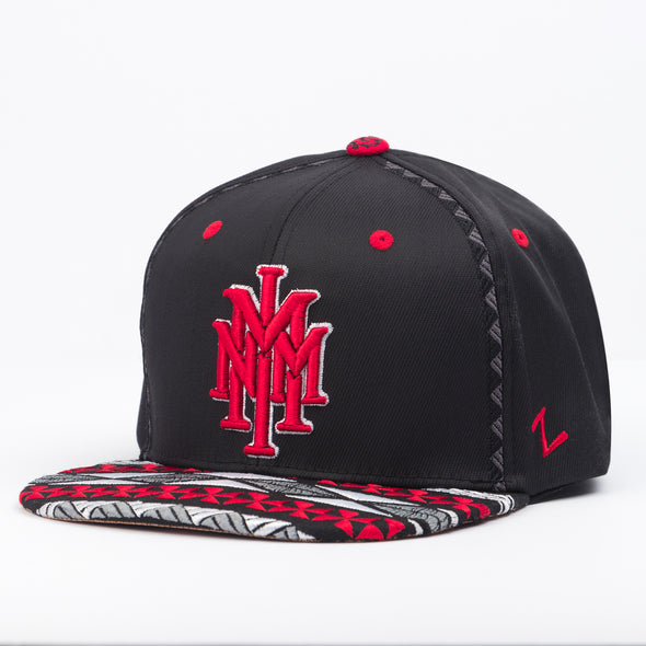 NMMI Black & Red Tribal Pattern Hat