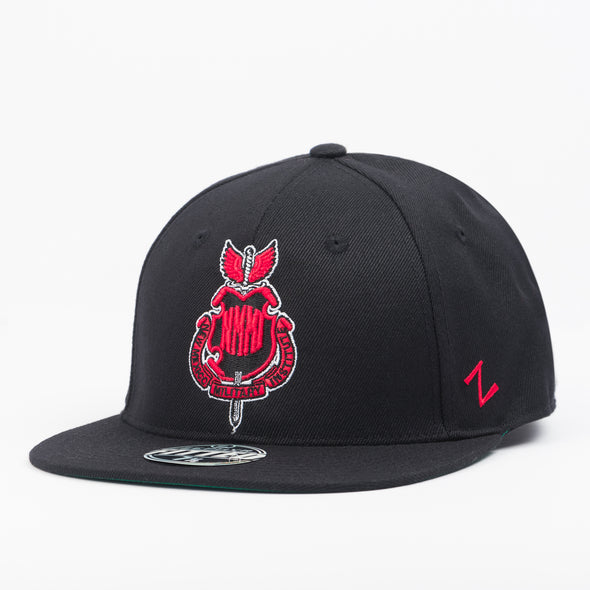 NMMI Black & Red Fitted Hat