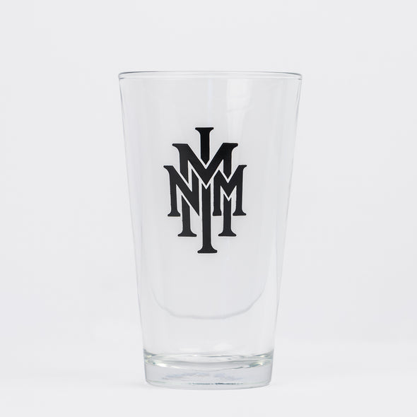 NMMI Clear Black Logo Glass Cup